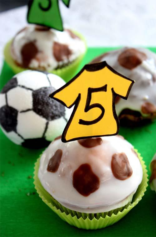 Muffins für den Fußball Geburtstag