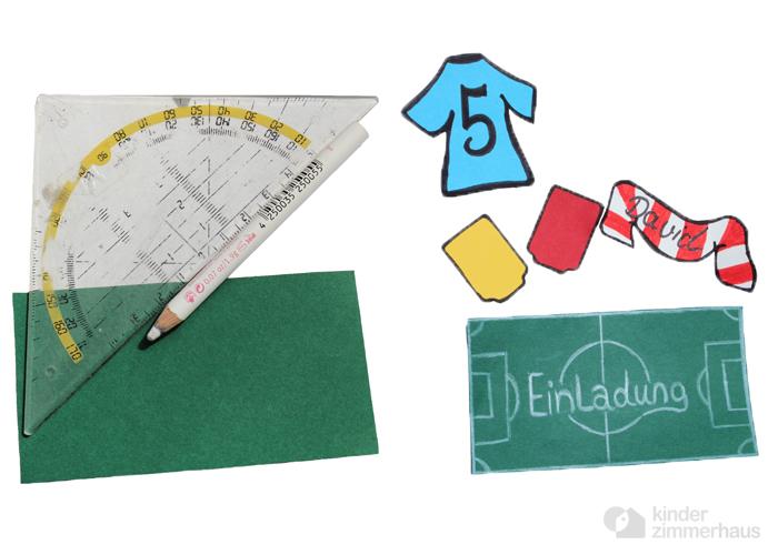 Einladungskarten Zum Kindergeburtstag Basteln: Fußball