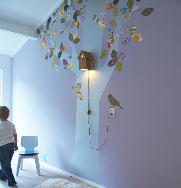 Kinderzimmer wand ideen baum  Wandgestaltung : Tipps