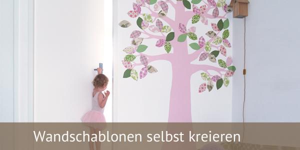Kinderzimmer wandbemalung vorlagen  Wandschablonen selber machen