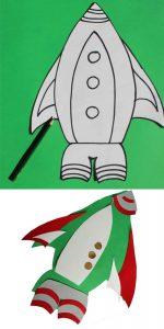 Schablone für Rakete
