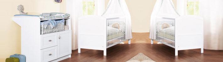 Babyzimmer zwillinge komplett  Sparpaket für Zwillinge   Kindermöbel für zwei