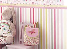 Gestreifte Kindertapeten im Kinderzimmerhaus online kaufen.