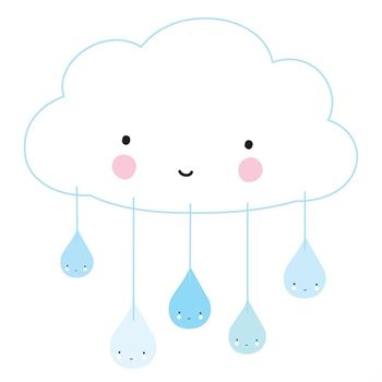 A little lovely company Mobile Wolke Blau