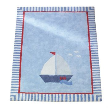 Annette Frank Kinderteppich Segelboot