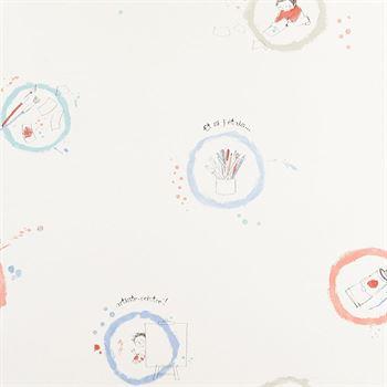 Arc en Ciel Tapete kleiner Künstler blau und rot