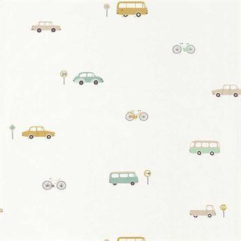 Casadeco Tapete Happy Dreams Auto beige mint