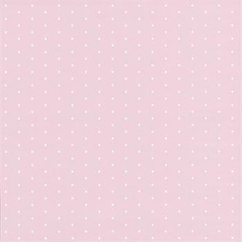 Casadeco Tapete Pois rosa weiß gepunktet