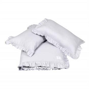 Cotton & Sweets Bettwäsche mit Rüschen Grau