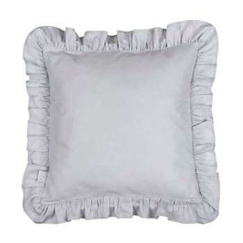Cotton & Sweets Kissen mit Rüschen Grau