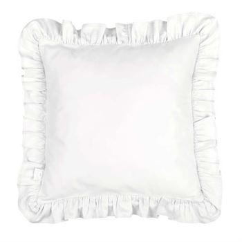 Cotton & Sweets Kissen mit Rüschen Weiß