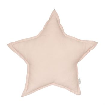 Cotton & Sweets Leinenkissen Stern Powder Pink