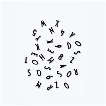 Design Letters Buchstaben Set für Message Board Schwarz