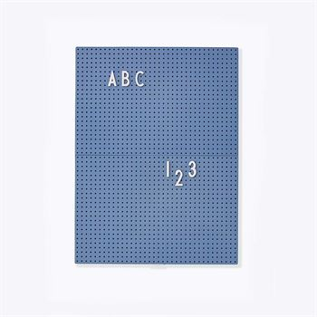Design Letters Message Board A4 Blau