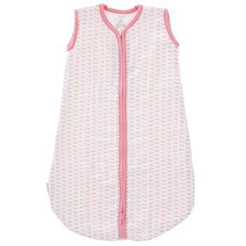 fresk-musselin-babyschlafsack-blaetter-pink F100-40-06-1