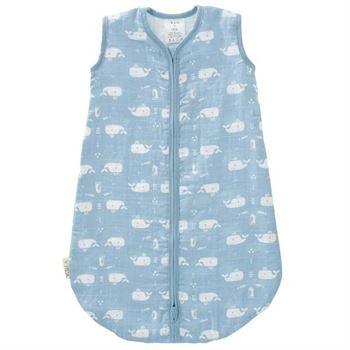 Fresk Musselin Babyschlafsack Wal Blauweiß | Kinderzimmer > Textilien für Kinder > Babytextilien