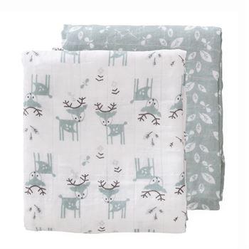 fresk-pucktuch---swaddle-set-deer-forest-green F110-O3-1