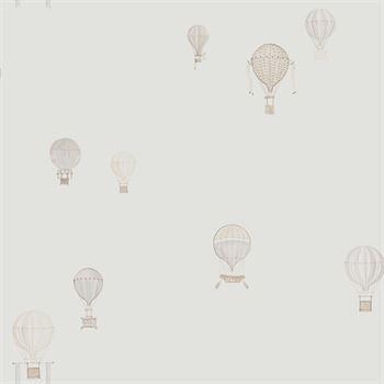 Jules et Julie Tapete Heißluftballon weiß grau ...