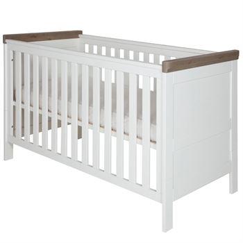 Kidsmill Babybett Savona Weiß - Grau 70 x 140