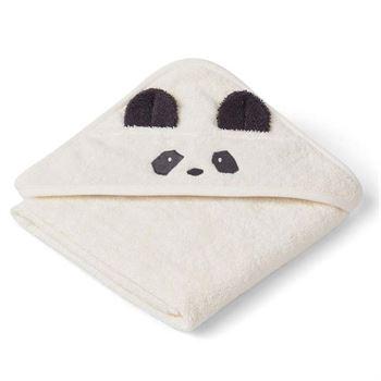 Liewood Kapuzenhandtuch Albert - Panda creme de la creme