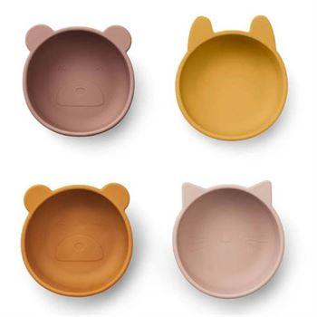 liewood-silikon-schuessel-set-iggy---rose-mix LW12846-9299-1