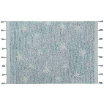 lorena-canals-waschbarer-teppich-hippy-stars-aqua-blue C-HI-ST-AQUA-1