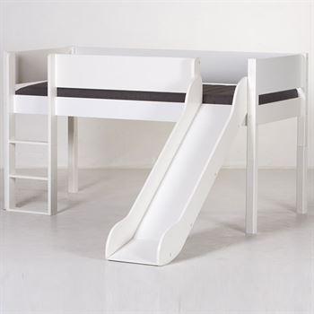 Manis-h Minihochbett Loke mit Rutsche Weiß