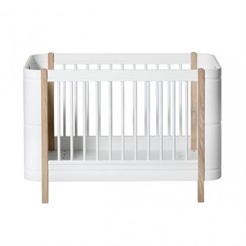 Oliver Furniture Baby- und Juniorbett Wood Mini+ Weiß/Eiche