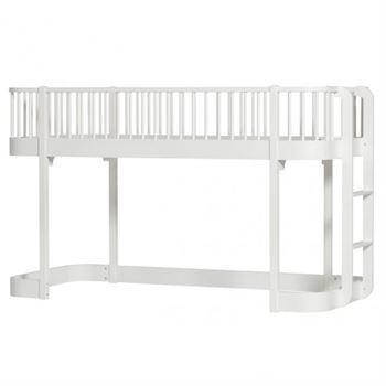 Oliver Furniture Halbhochbett Wood Weiß