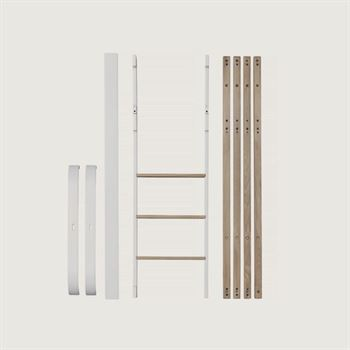 Oliver Furniture Umbauset Wood Mini+ zum halbhohen Hochbett Weiß/Eiche