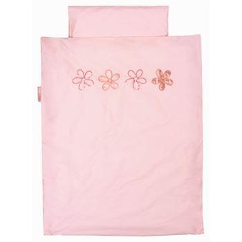 Rosa vorhang f r das kinderzimmer patchworkvorhang for Vorhangschal kinderzimmer