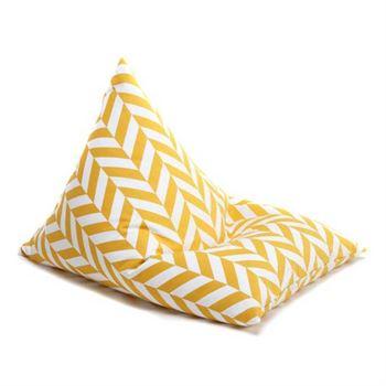wigiwama-sitzsack-triangle-herringbone-mustard W590025-1