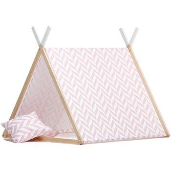 wigiwama-spielzelt-tipi-herringbone-pink WW-TENT-HB-P-1