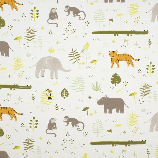 Casadeco Tapete Happy Dreams Dschungel Tiere grün