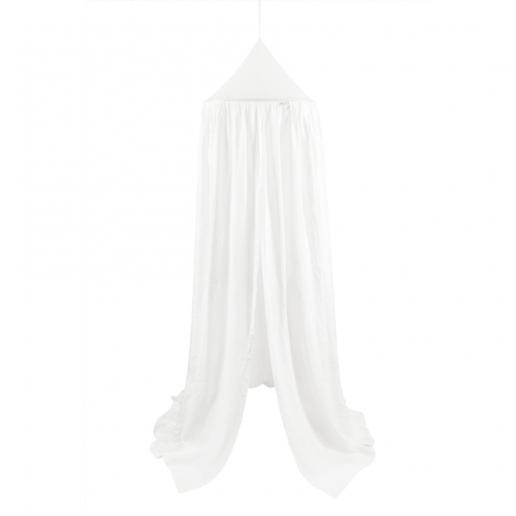 Cotton & Sweets Leinen Betthimmel Weiß