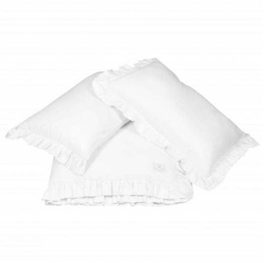 Cotton & Sweets Bettwäsche mit Rüschen Puderrosa