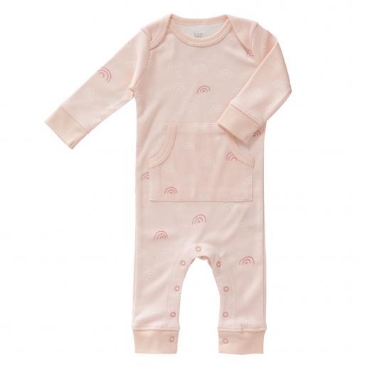 Fresk Pyjama ohne Füße Regenbogen Rose 6-12 m
