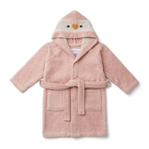 Liewood Bademantel Lily Penguin rose 1-2 Jahre