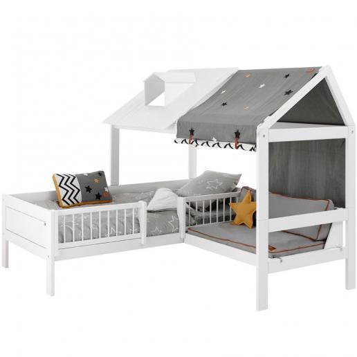 LifeTime Beachhouse Bett mit Sitzplatz Rollattenrost