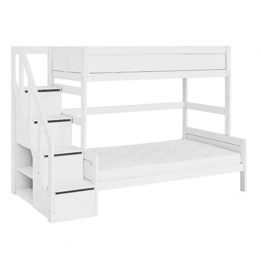 LifeTime Etagenbett Family mit Treppe Weiß