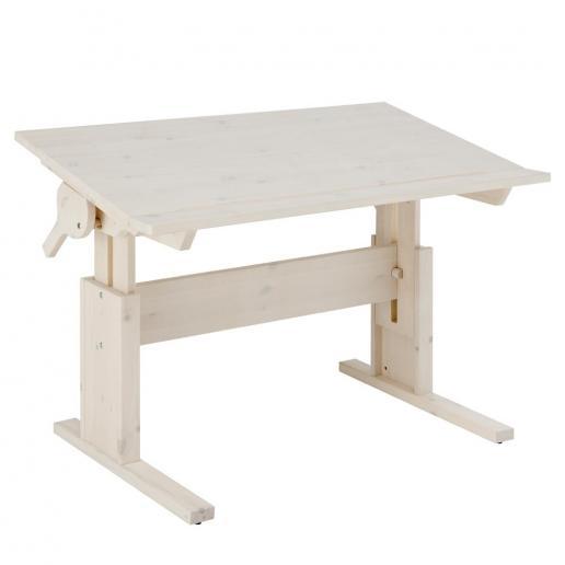 LifeTime Schreibtisch mit neigbarer Platte White-Wash