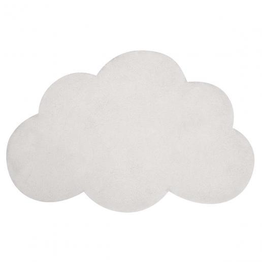 Lilipinso Baumwollteppich Wolke weiß