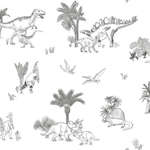 Lilipinso Vlies Tapete Dinosaurier