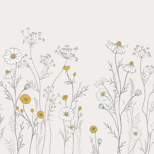 Lilipinso Vlies Tapete Wandbild Wildblumen
