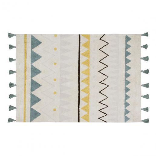 Lorena Canals Waschbarer Teppich Azteca Natural Vintage Blue L