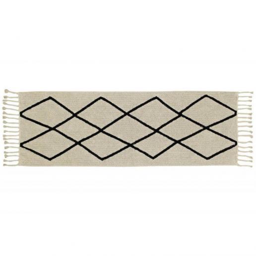 Lorena Canals Waschbarer Teppich Bereber Cream 80 x 230 cm