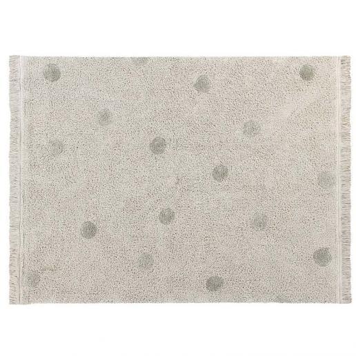Lorena Canals Waschbarer Teppich Hippy Dots Oliv