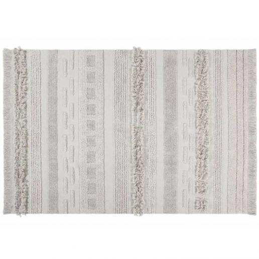 Lorena Canals Waschbarer Teppich Luft Düne Weiß 140 x 200