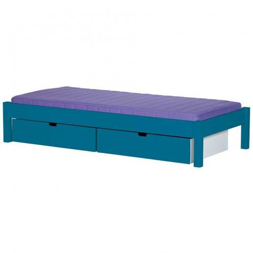 Manis-h Kinderbett Ull mit Bettschubladen 15 Farben Aqua