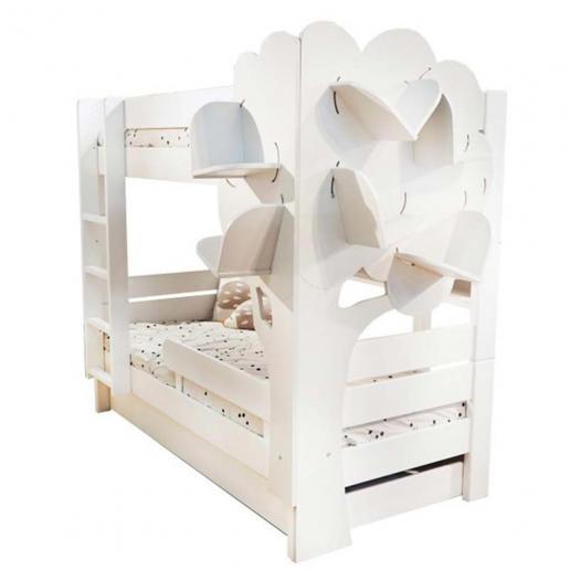 Mathy By Bols Etagenbett mit Bücherregal Bettschublade
